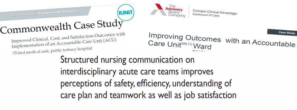 ACU care model on ACE unit improves communication and patient care quality