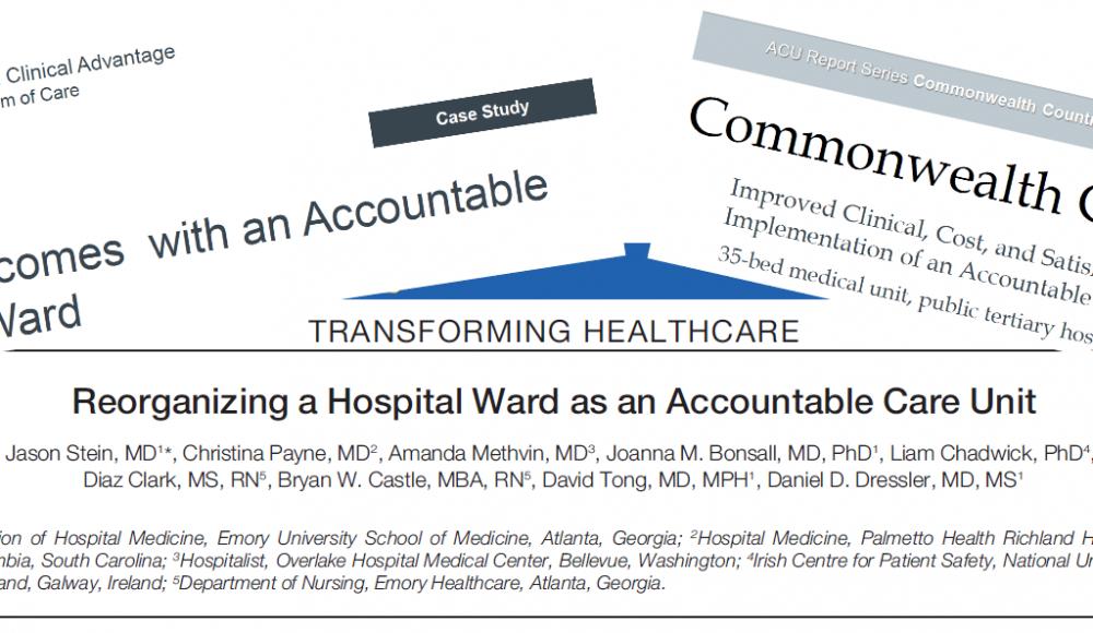 Journal of Hospital Medicine ACU article